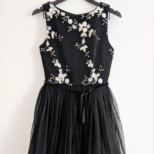 Chelsea tulle dress with embroidered mesh overlay